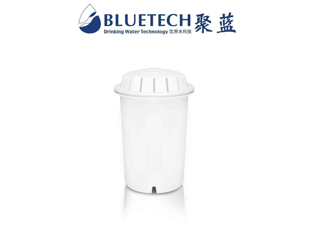 White PH Increasing Alkaline Water Filter Cartridge For Pitchers , 350L Lifetime