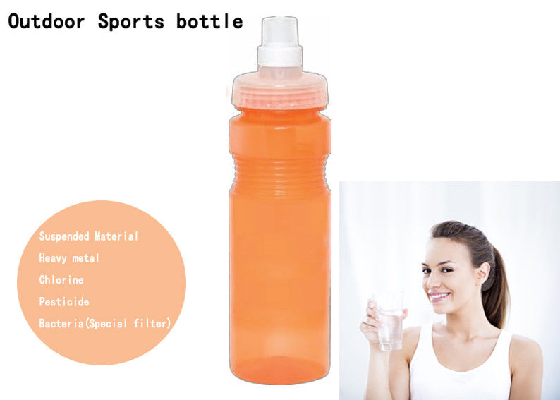 650ml PP Soft Squeezing Portable Water Filter Bottle With Carbon Block Filter