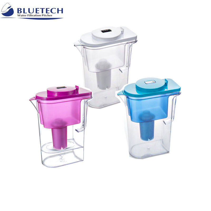 ABS Plastic Resin Water Filter Jugs , Alkaline Water Filtration System Household Pre Filtration