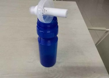 Blue Round Water Filter Bottle With Carbon Block Filter , FDA  Certificate