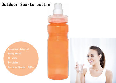 China 650ml PP Soft Squeezing Portable Water Filter Bottle With Carbon Block Filter factory