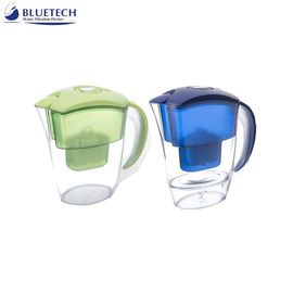 China Activated Carbon / Resin / Alkaline Bluetech Water Filter , Water Purifier Pitcher Portable distributor
