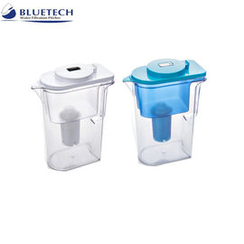 China Reusable Alkaline Bluetech Water Filtration System , Transparent Water Purifier Pitcher distributor