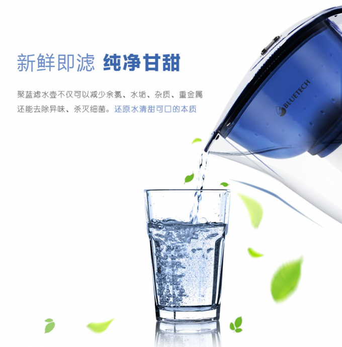 OEM Fluoride Removing Water Filter , Water filter pitcher replacement cartridges